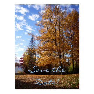 Save the Date Card - Autumn