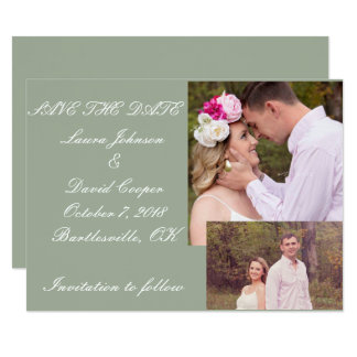 Save the date classic card