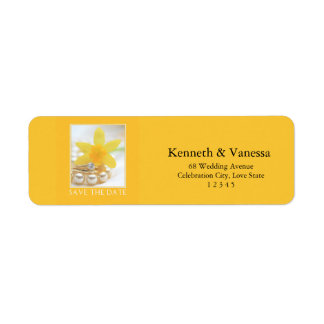 Save the Date Daffodil Spring wedding Return Address Label