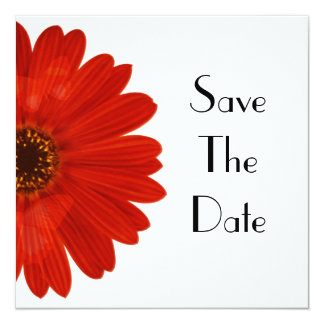 Save The Date Daisy 13 Cm X 13 Cm Square Invitation Card