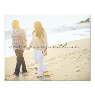 Save the Date Destination Wedding 11 Cm X 14 Cm Invitation Card