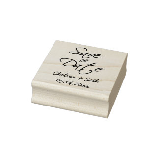 Save the Date - DIY Text Rubber Stamp