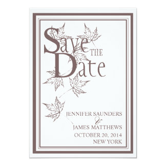 Save the Date Fall Autumn Wedding Announcement
