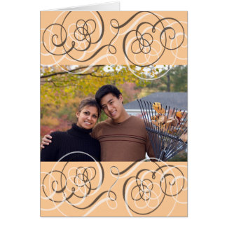 Save the Date for an Autumn Wedding Card