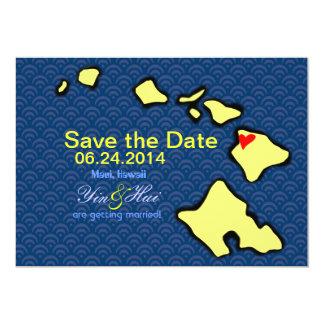 Save the Date for Maui Wedding 13 Cm X 18 Cm Invitation Card