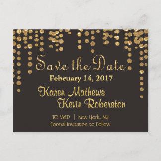 Save the Date | Gold Confetti