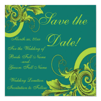 Save the Date... 5.25x5.25 Square Paper Invitation Card