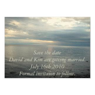 Save the date invitation... 13 cm x 18 cm invitation card