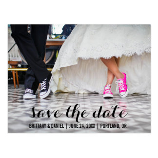 Save The Date Modern Engagement Postcard S