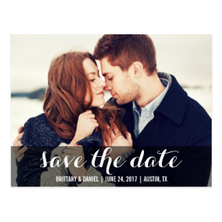 Save The Date Modern Engagement Postcard W