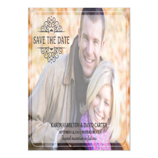 Save the Date Modern Full Bleed Photo Magnetic Invitations