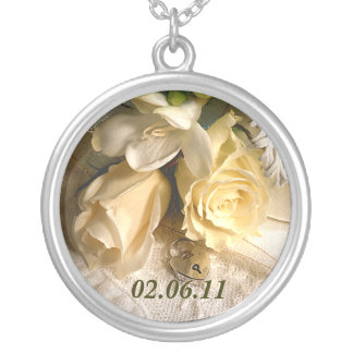 Save The Date Necklace Custom Wedding Pendant