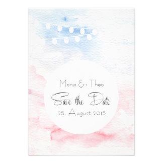 Save the DATE - postcard in tender tones Custom Invites