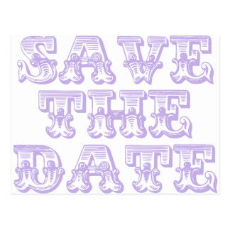 Save the Date Postcards in Lilac