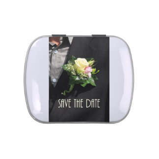 SAVE THE DATE  program  groon bouttoniere.jpg Jelly Belly Tin