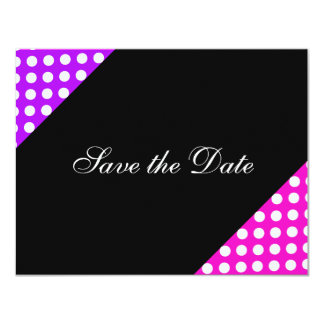 Save the Date Purple Pink Pattern Country Spring Card