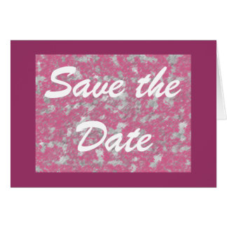 Save the Date - Rose Dance Card