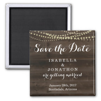 Save the Date - Rustic Wood Wedding Magnet