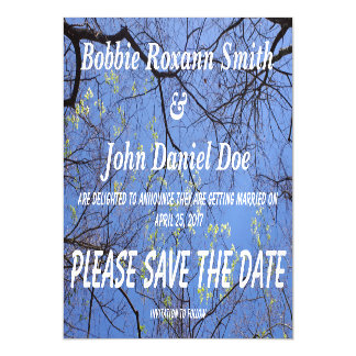 Save the date Spring Trees Magnetic Invitations