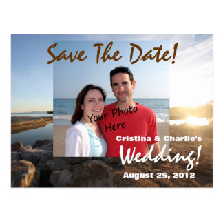 Save The Date Summer Beach Wedding Postcards
