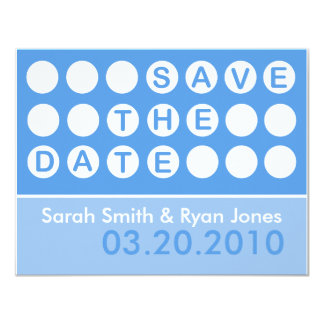 Save the Date (Today's Best Award) 11 Cm X 14 Cm Invitation Card