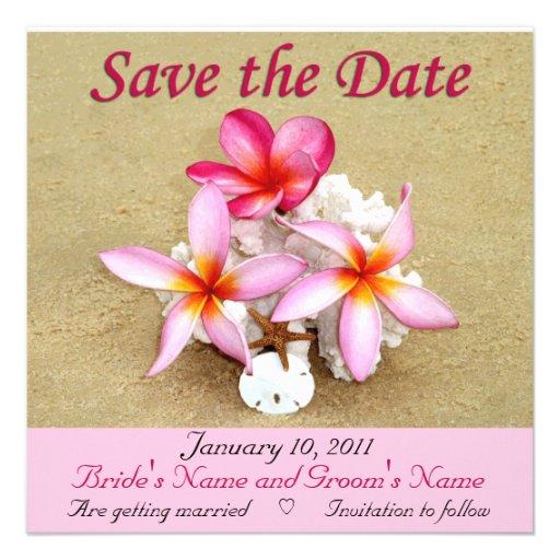Save the Date - Tropical Beach Wedding Custom Invite