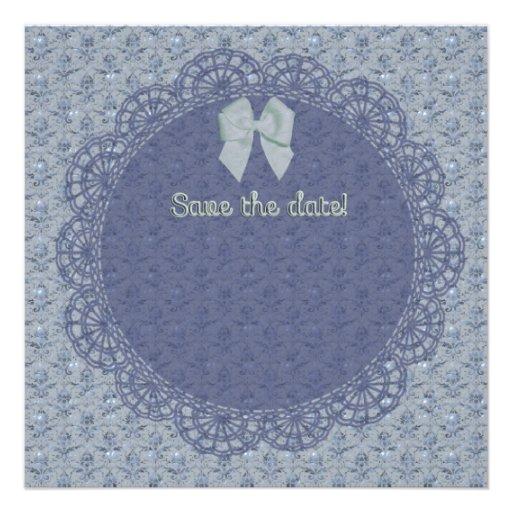 Save the date victorian invitation card