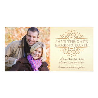 Save the Date Vintage Scrolls Photo Cards