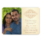 Save the Date Vintage Scrolls with Photo Card