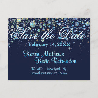 Save the Date w/ Bubble Stars