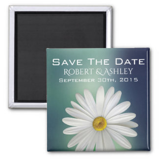 Save The Date Wedding Daisy Magnet