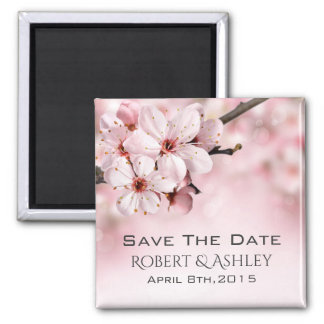 Save The Date Wedding Floral Magnet