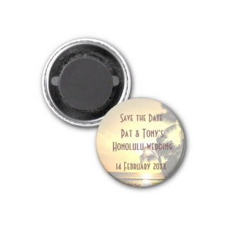 Save the Date Wedding in Hawaii Magnet