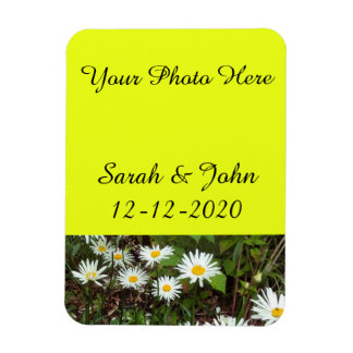 Save the date wedding photo magnet Daisy