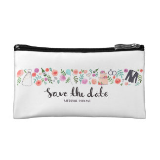 Save The Date Wedding Podcast Cosmetic Bag