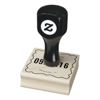 Save the Date Wedding Return Address Stamp