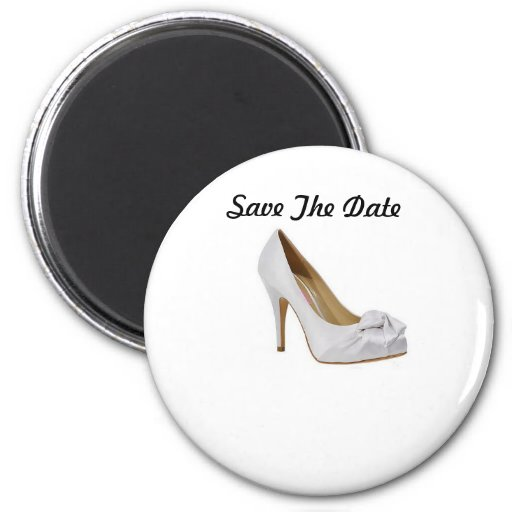Save The Date Wedding Shoe Magnet