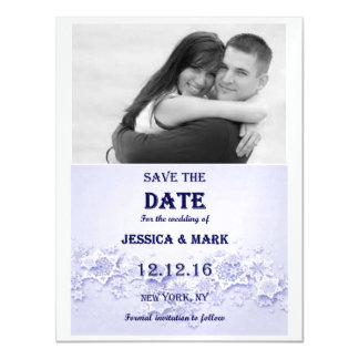 Save The Date Winter Theme Magnetic Invitations