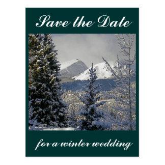 Save the Date Winter Wedding Postcard