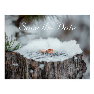 Save The Date--Winter Wedding Postcard
