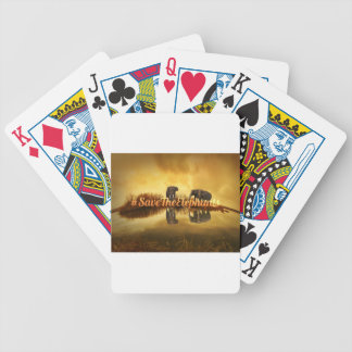 Save The Elephants Design Bicycle Playing Cards