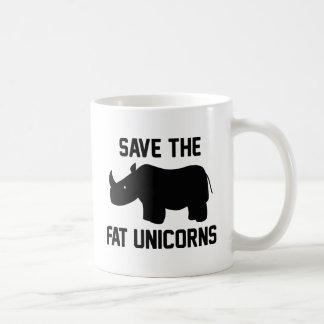Save The Fat Unicorns Coffee Mug