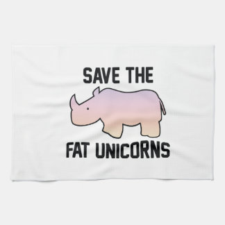 Save The Fat Unicorns Hand Towel