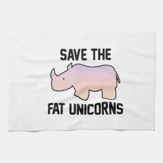 Save The Fat Unicorns Tea Towel