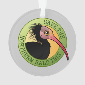 Save the Northern Bald Ibis Ornament
