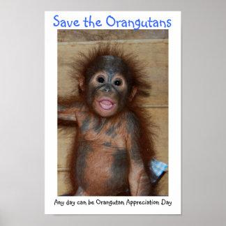 Save the Orangutans Poster