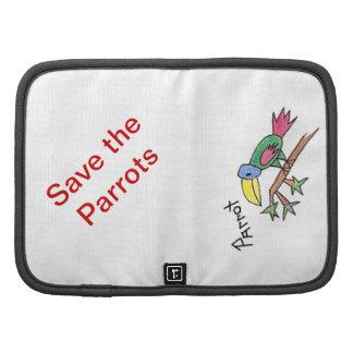 Save the Parrot Mini Folio Folio Planner