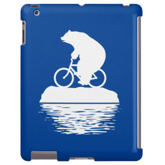 Save the Planet: Polar Bear Bicycle iPad Case