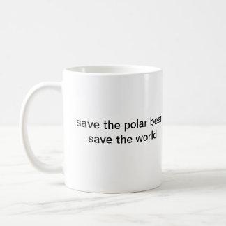 SAVE THE POLAR BEAR COFFEE MUG