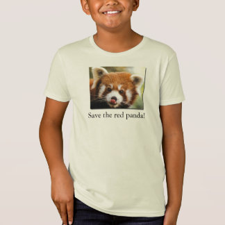 Save the red panda! Organic Kid's T-Shirt Jr.